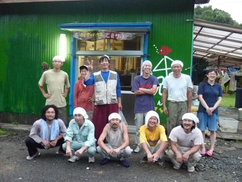 2010.07 屋根の葺き替え 大工さんたちと